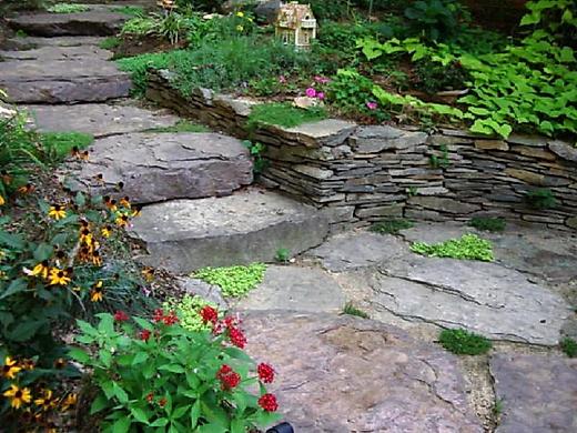 лестницы из камня на даче - lestnitsy iz kamnya na dache