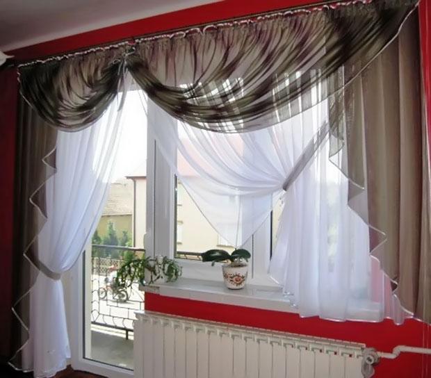 Декор штор не выделяется среди общего интерьера